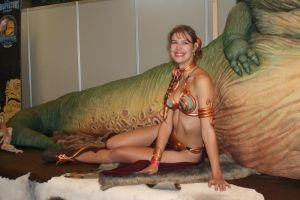 Slave Leia with Jabba by Applenaut