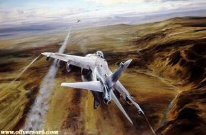 harrier Airstrike over West Falklands by james-a-c