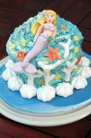 Giant 'Under the Sea' Cupcake by peeka85