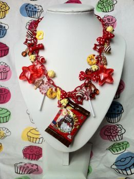 Hello Kitty Chocolate Necklace by lessthan3chrissy