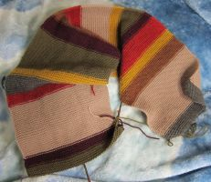 Dr Who Shada Scarf WIP 2 by Mattsma