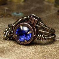 Lab Tanzanite steampunk Ring by CatherinetteRings