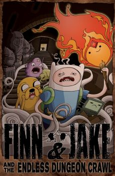 Finn and Jake and the Endless Dungeon Crawl by RyanGiovinco