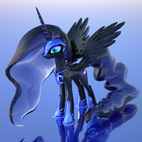 Power of the Night (3D render) by Universe-of-Dusk