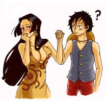 Boa Hancock x Luffy by dizzle-drop