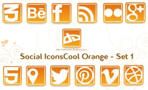 Social Cool Orange Icons -Set 1 by midhunstar