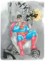Superman's Last Will and Testament Water and Ink by magnumpeanut