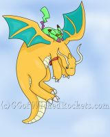 Ride apon a Dragonite's back by TheGreenPikachu
