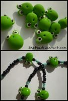 Fimo frogs by Shatya