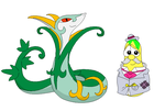Jerry Gourd as Duke of New Orleans and Serperior by Magic-Kristina-KW