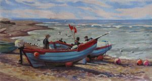 Fishing Boats, Klitmoller by postapocalypsia