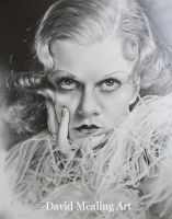 Jean Harlow 2 by Drawing-Dude-Dave