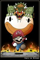Mario vs. Bowser by CitizenWolfie