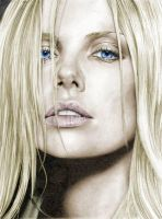 colored charlize theron by nikki13088