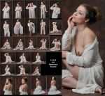 Rebecca 25 Feminine and Romantic Nudes with Robe by ArtReferenceSource