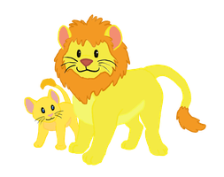 Two Lions by RunningSpud