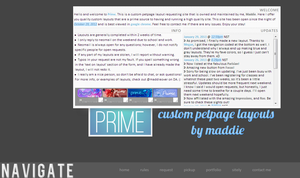 Prime's new layout // blue+gray by maddieover