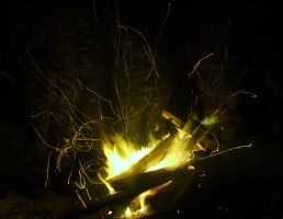 In the night beside campfires by birographic