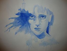 Watercolour portrait #2 by Cobaas