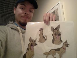 Me with Don Bluth character sheet by FilmmakerJ