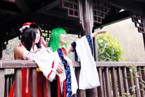 touhou Project  blue and red2 by shuichimeryl