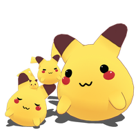 MMD Pikachu Mini DL by AceYoen