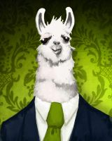 Formal Llama - Green by JackHook