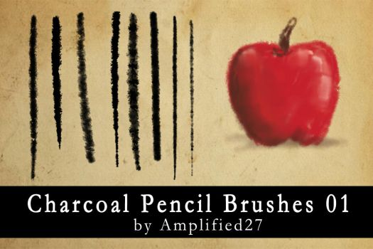 Charcoal Pencil Brushes 01 by amplified27