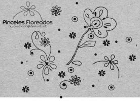 Flower Brushes 02 by caotiicah