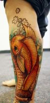 Koi fish.1 by midnightINK