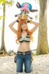 Chopper on top of Nami's Head, One Piece Cosplay by firecloak