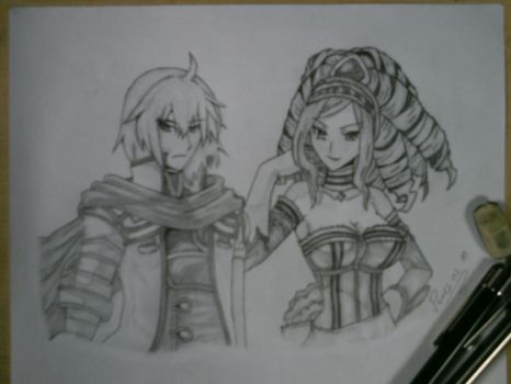 Hexyz Force - Levant and Irene by Master-Tomoya