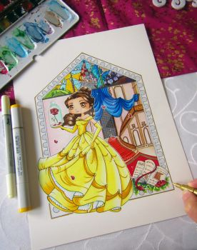 Belle Drawing by LeFay00
