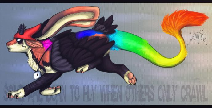 Some are born to fly when others only crawl by Vobla-mi