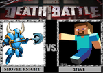 Death Battle Shovel Knight vs Steve by Gatlinggundemon9