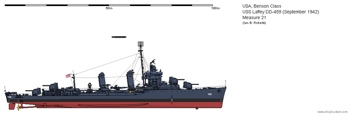 USS Laffey DD-459 (September 1942) - Measure 21 by ColosseumSB