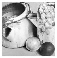 Tin Can with Grapes by girl-with-a-pencil