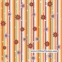 Retro Seamless Stripe Pattern with Flowers by 123freevectors