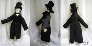 Plush Javert with Overcoat and top hat by SerinusCanaria