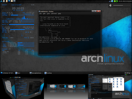 Jan10: Arch + LXDE + Compiz by Nielssonnich