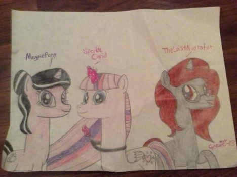Magpie Pony, TheLostNarrator, and Sparkle Cupid by April-13