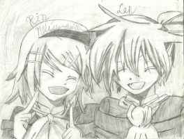 Kagamine Rin and Len second time by yasminload63