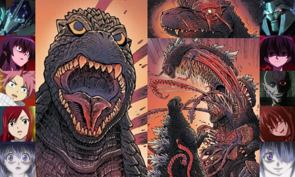 Godzilla in Hell: Heroes and Villains Reaction by artdog22