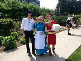 Howl, Sophie and Arrietty by iliowahine