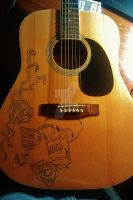 Carved guitar XD i love my carving skills by Nathandavis42