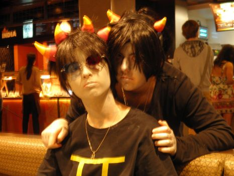 Sollux and Karkat by Selenic-Soul-Girl