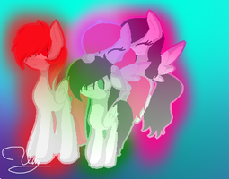 my two brother and sister and me by MusicStar123