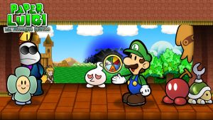Paper Luigi: the Marvelous Compass by GEO-GIMP