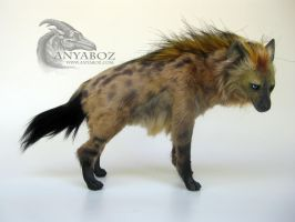 Blue Eyed Hyena Room Guardian by AnyaBoz