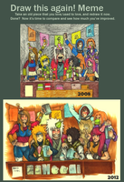 .:Draw this again - Before and After:. by 25Nanao16